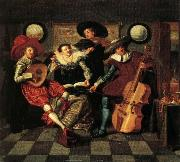 Dirck Hals The Merry Company oil painting artist